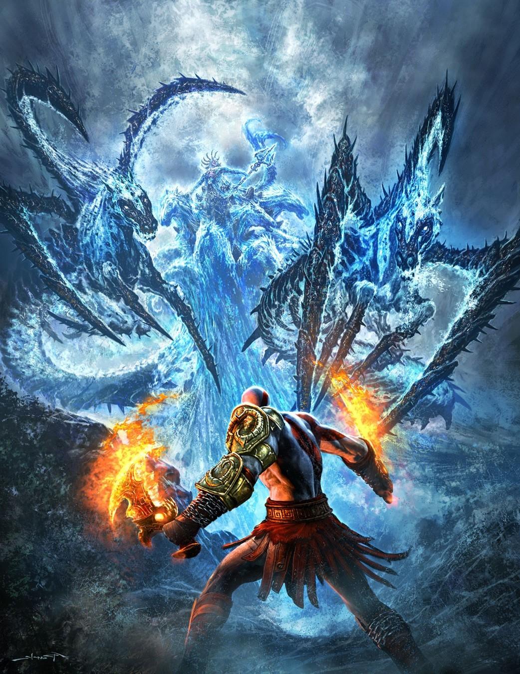 Wallpaper 1042x1350 Px Artwork God Of War Video Games
