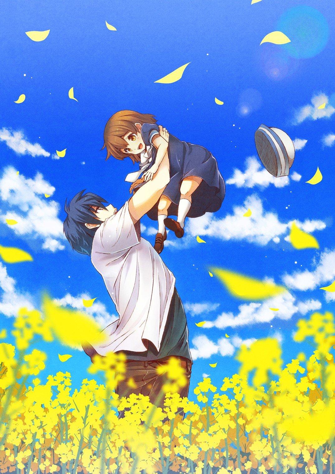 Wallpaper 1075x1517 Px Clannad Tomoya Okazaki Ushio Okazaki