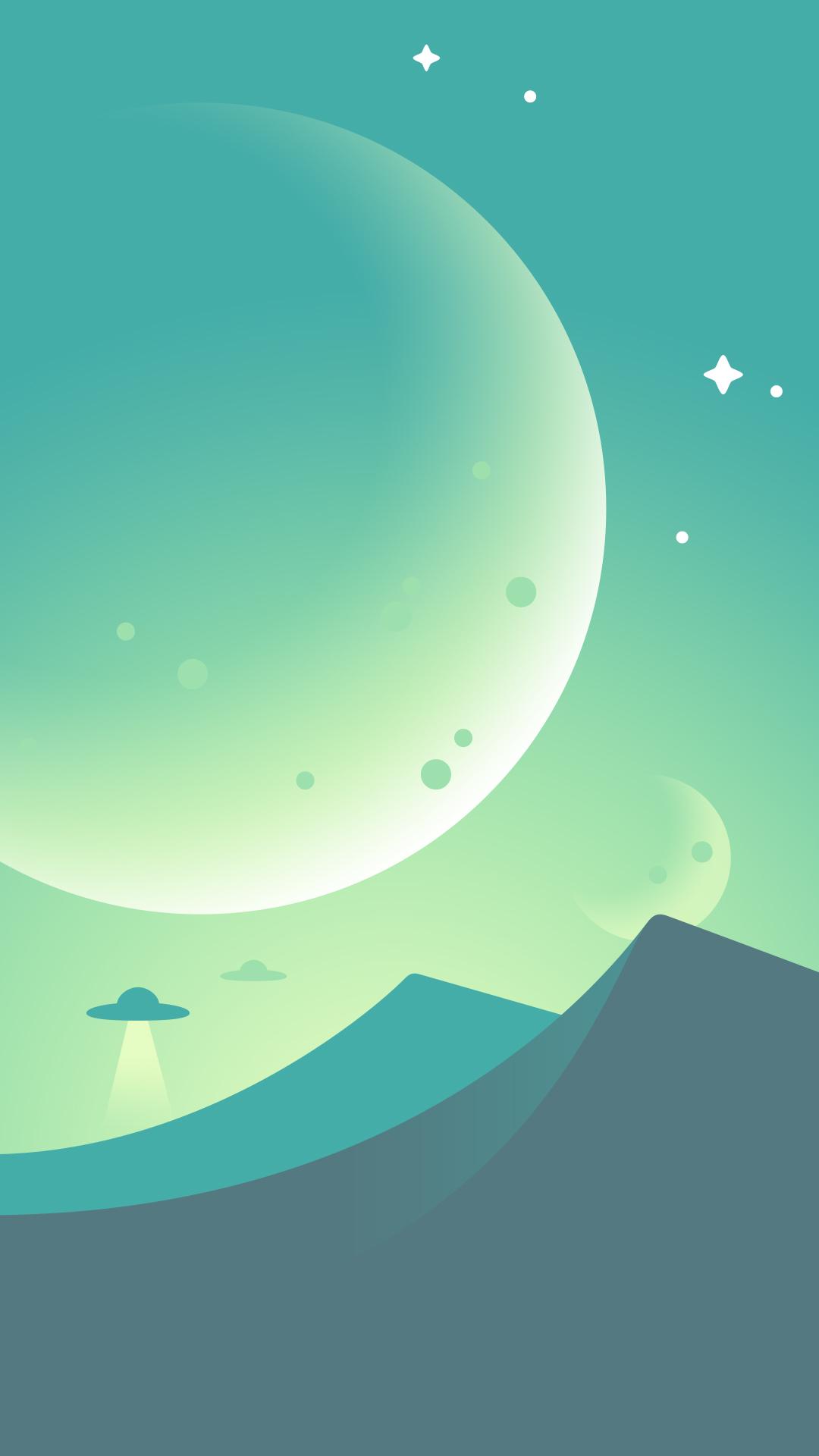 デスクトップ壁紙 1080x1920 Px デジタルアート 山々 自然 惑星