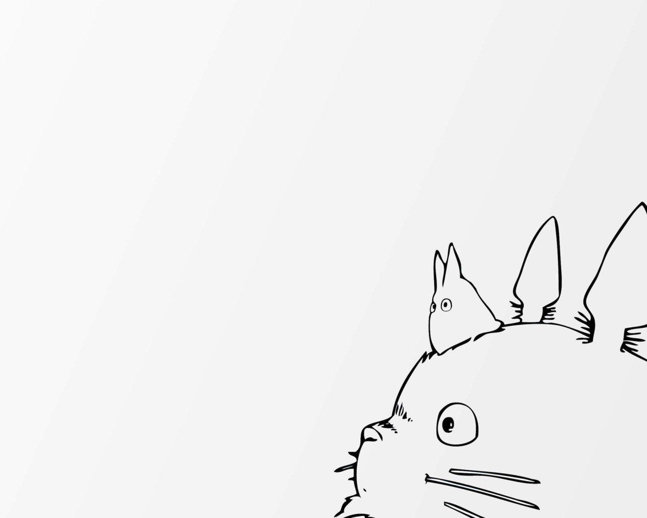 デスクトップ壁紙 1280x1024ピクセル アニメ となりのトトロ