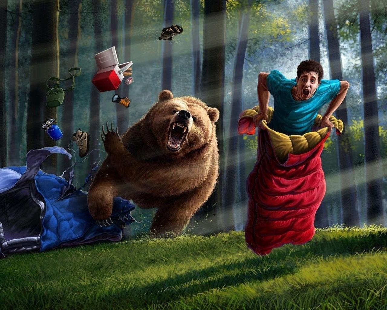 Прикольные картинки медведь россия, танки