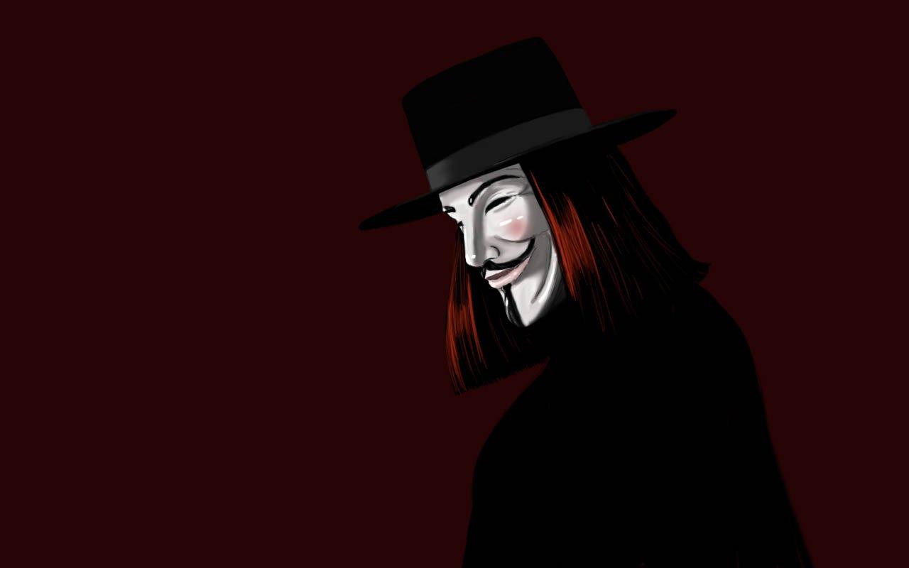 Papel De Parede 1280x800 Px Mascara De Guy Fawkes Chapeu