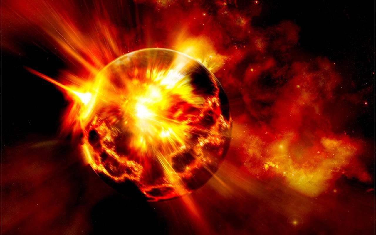 Планета в огне картинки