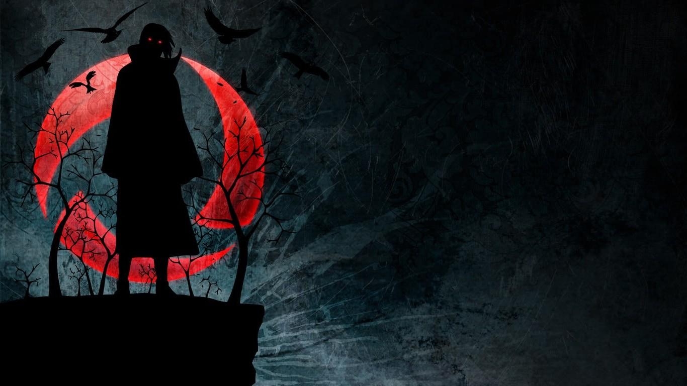 1366x768 px Akatsuki glowing eyes grunge Naruto Shippuuden raven Sharingan Uchiha Itachi