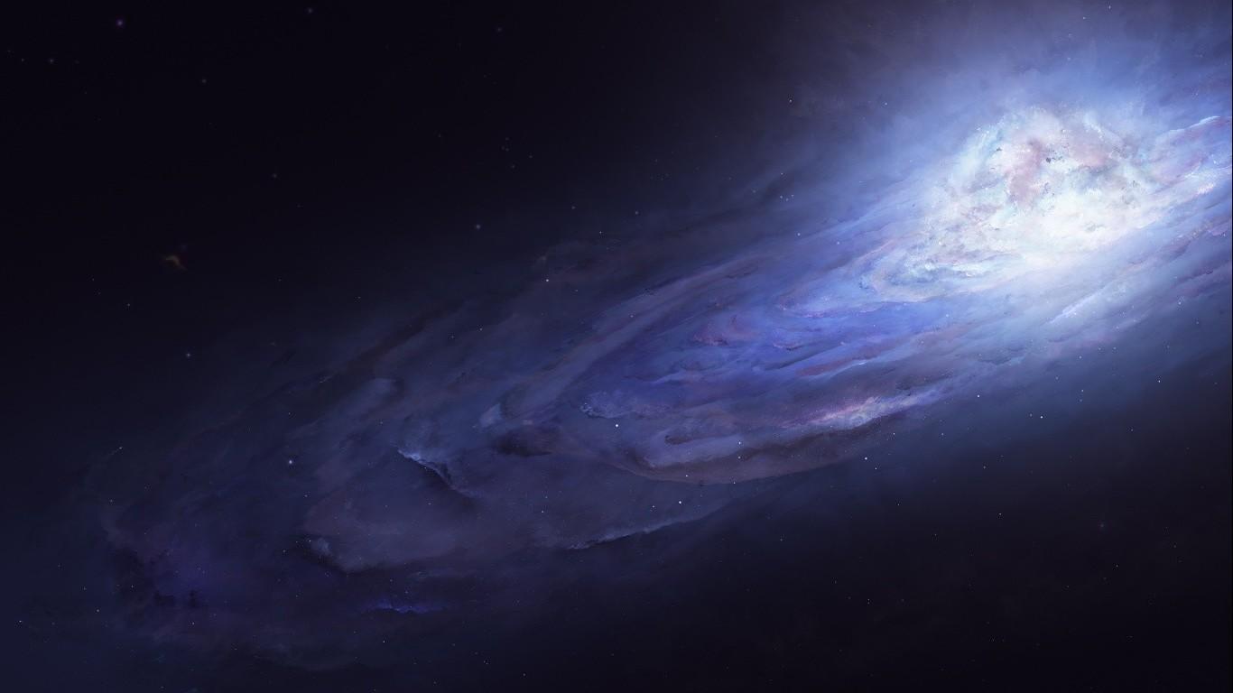 Wallpaper 1366x768 Px Andromeda Galaxy Universe