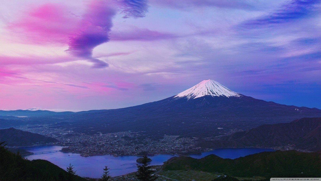 デスクトップ壁紙 1366x768 Px 日本 富士山 1366x768