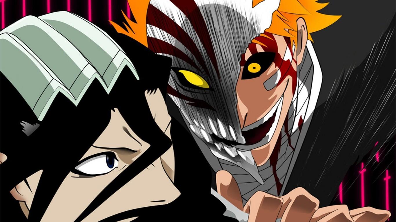 1366x768 Px Anime Bleach Hollow Kuchiki Byakuya Kurosaki Ichigo