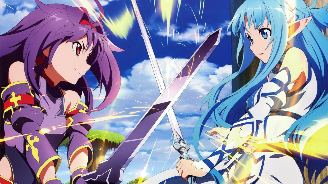 1366x768 Px Anime Konno Yuuki Sword Art Online Asuna