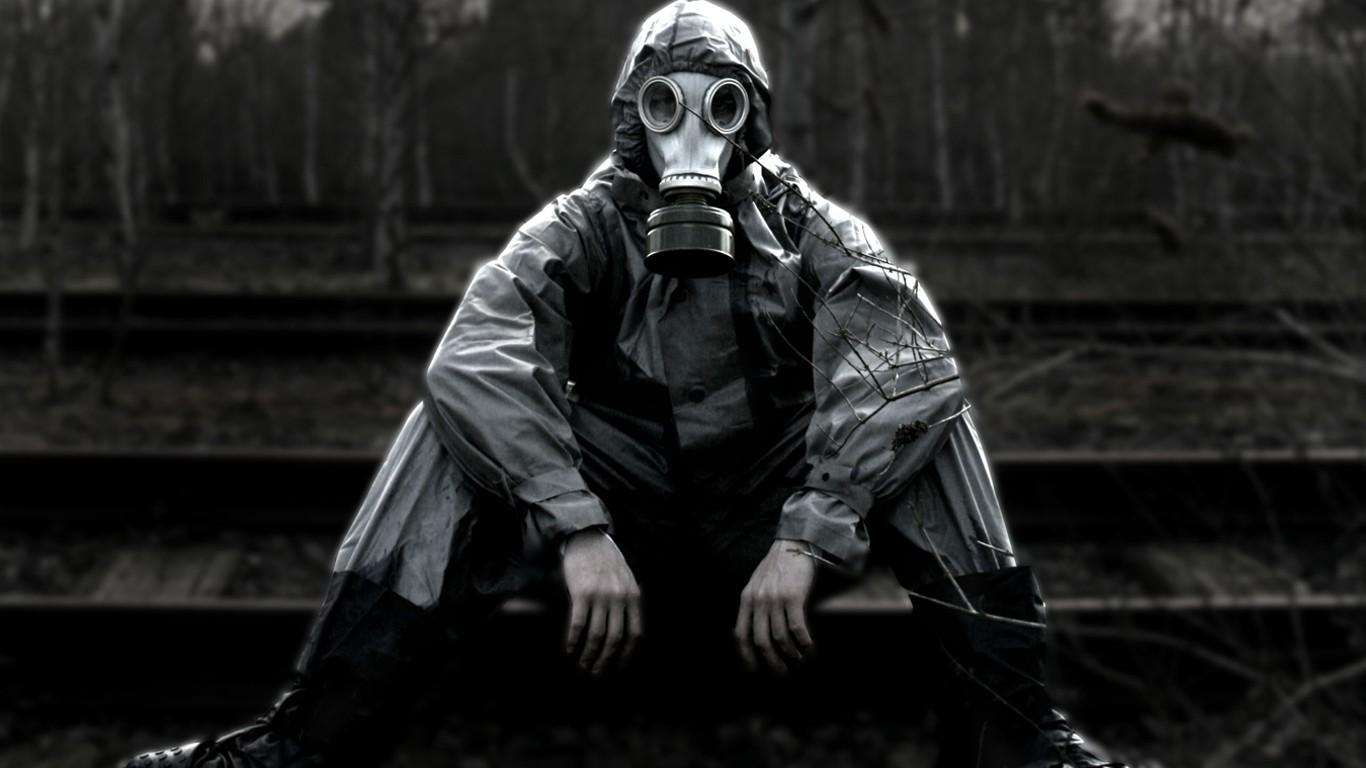 Wallpaper 1366x768 Px Apocalyptic Gas Masks 1366x768