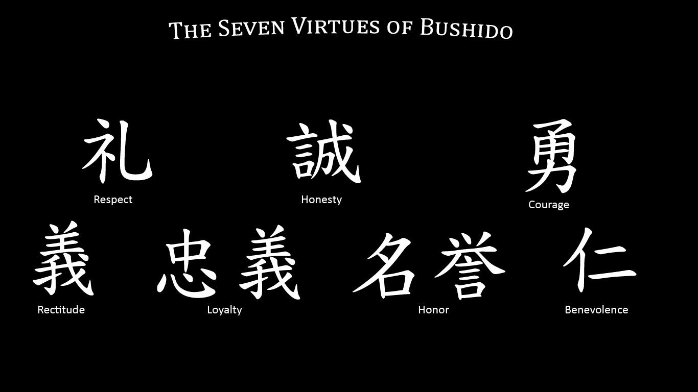 the elements of japanese bushido The bushido kanji includes bu, martial, shi  the kanji do has two elements: japanese bushido print.