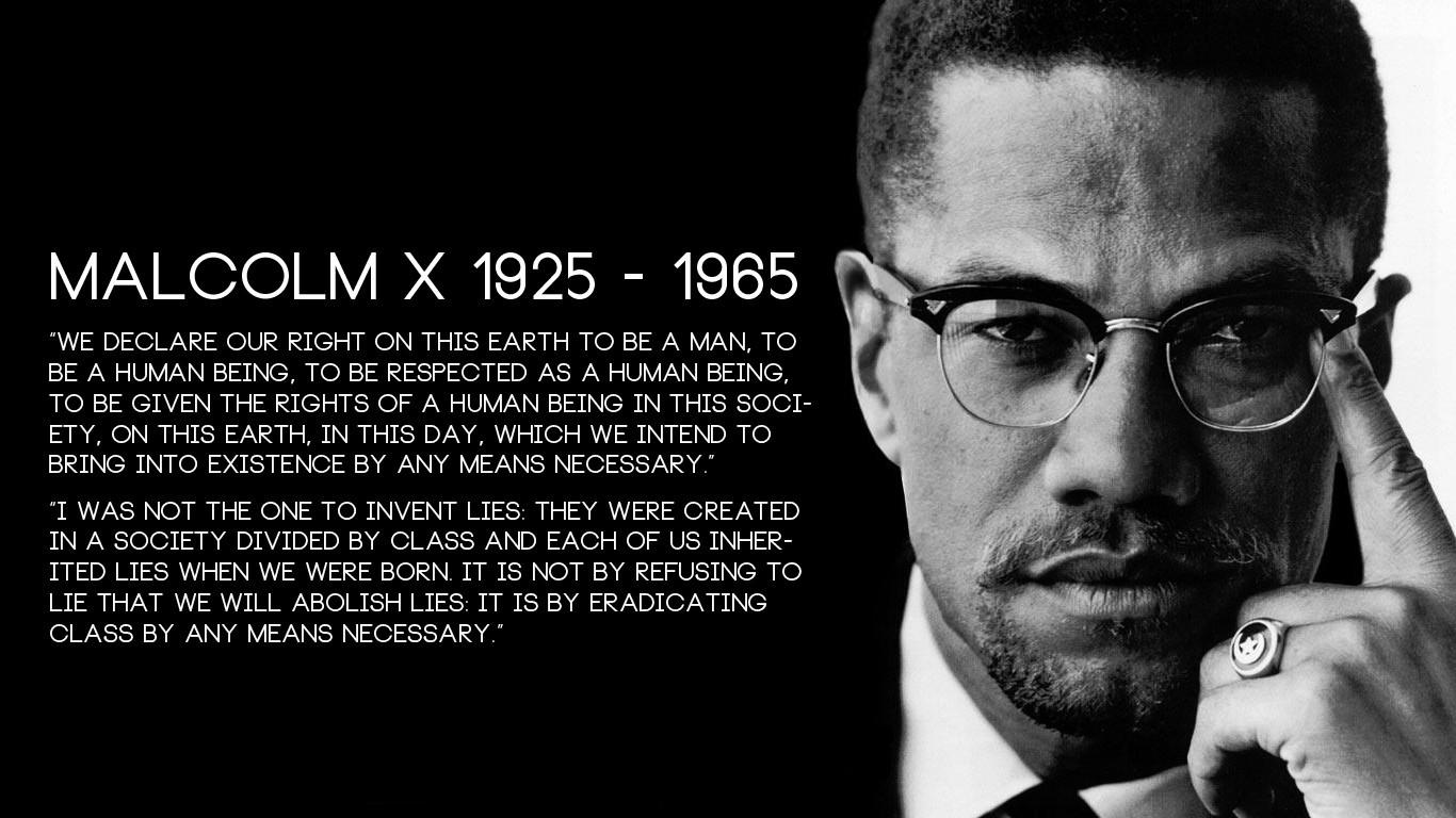 Wallpaper 1366x768 Px Malcolm X Monochrome Quote 1366x768