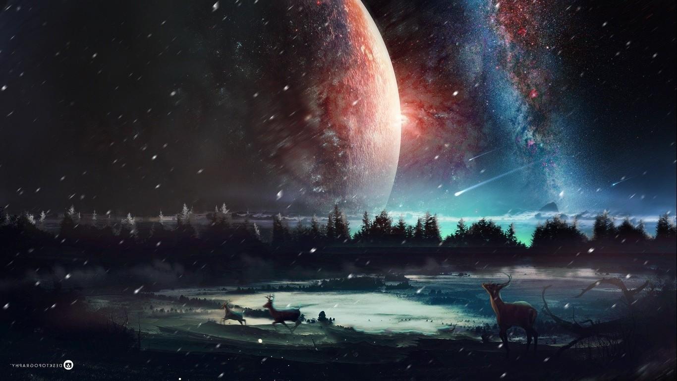 Fond d'écran : 1366x768 px, planète, univers 1366x768 - CoolWallpapers - 662429 - Fond d'écran ...