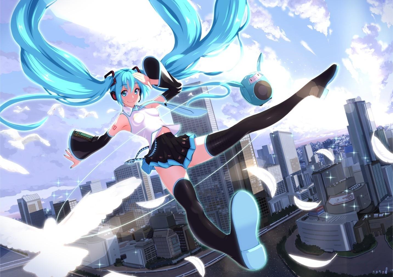 1433x1012 Px Anime Hatsune Miku Vocaloid