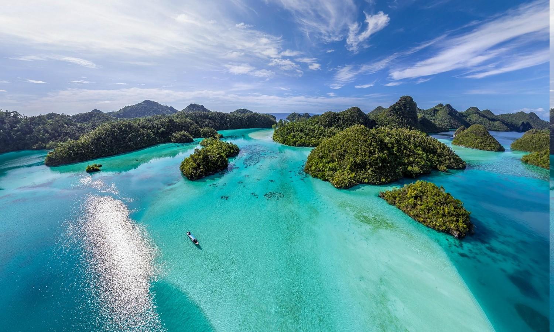 Fond d'écran : 1500x900 px, vue aérienne, plage, des nuages, Indonésie, île, paysage, la nature ...