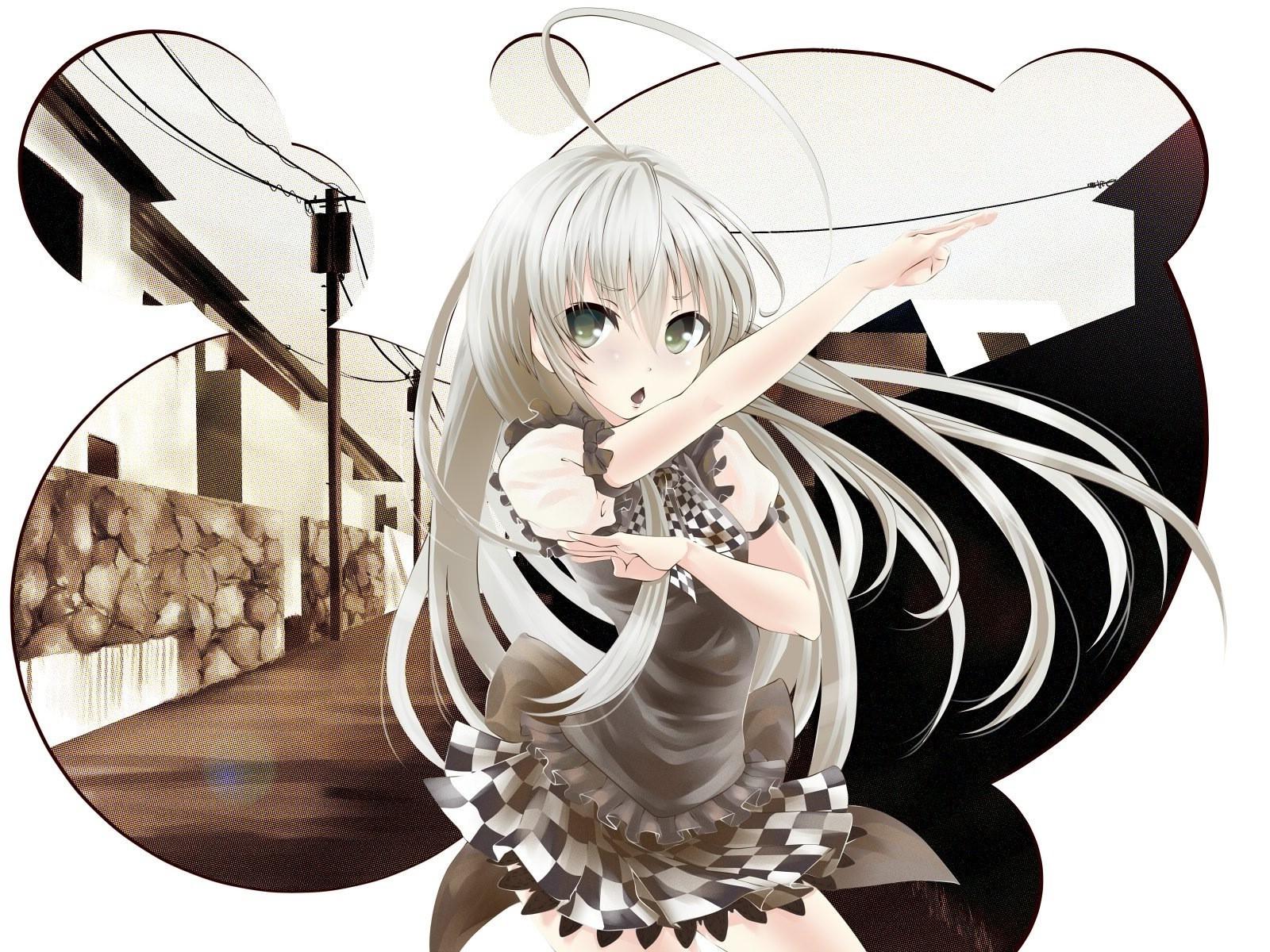 Wallpaper 1600x1200 Px Anime Haiyore Nyaruko San Monochrome