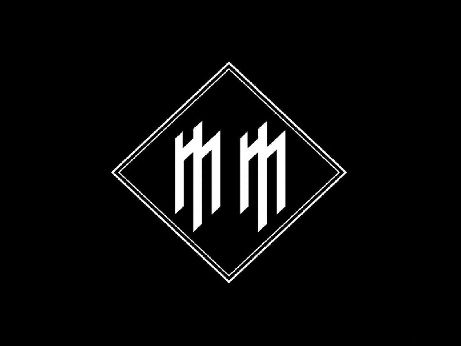 Wallpaper 1600x1200 Px Black Background Logo Marilyn Manson