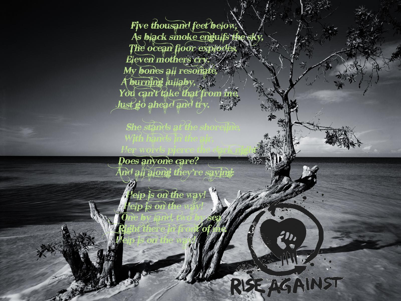 1600x1200 Px Hardcore Lyrics Monochrome Punk Rock Rise Against