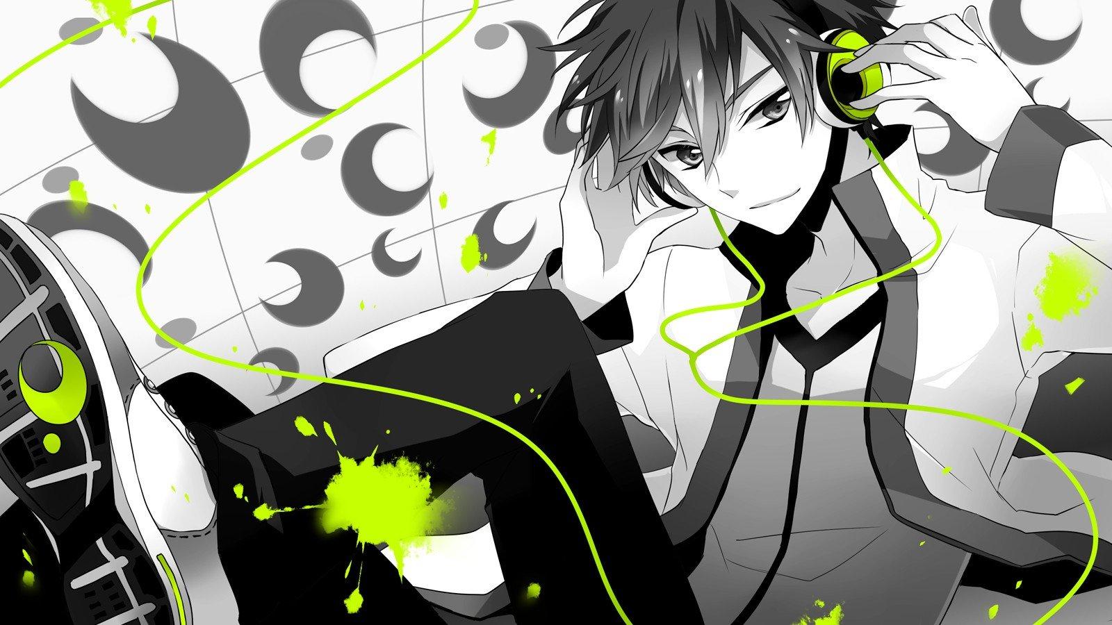 Wallpaper 1600x900 Px Anime Headphones Vocaloid 1600x900