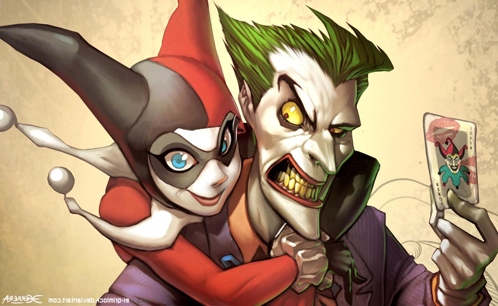 Wallpaper 1600x982 Px Dc Comics Harley Quinn Joker 1600x982