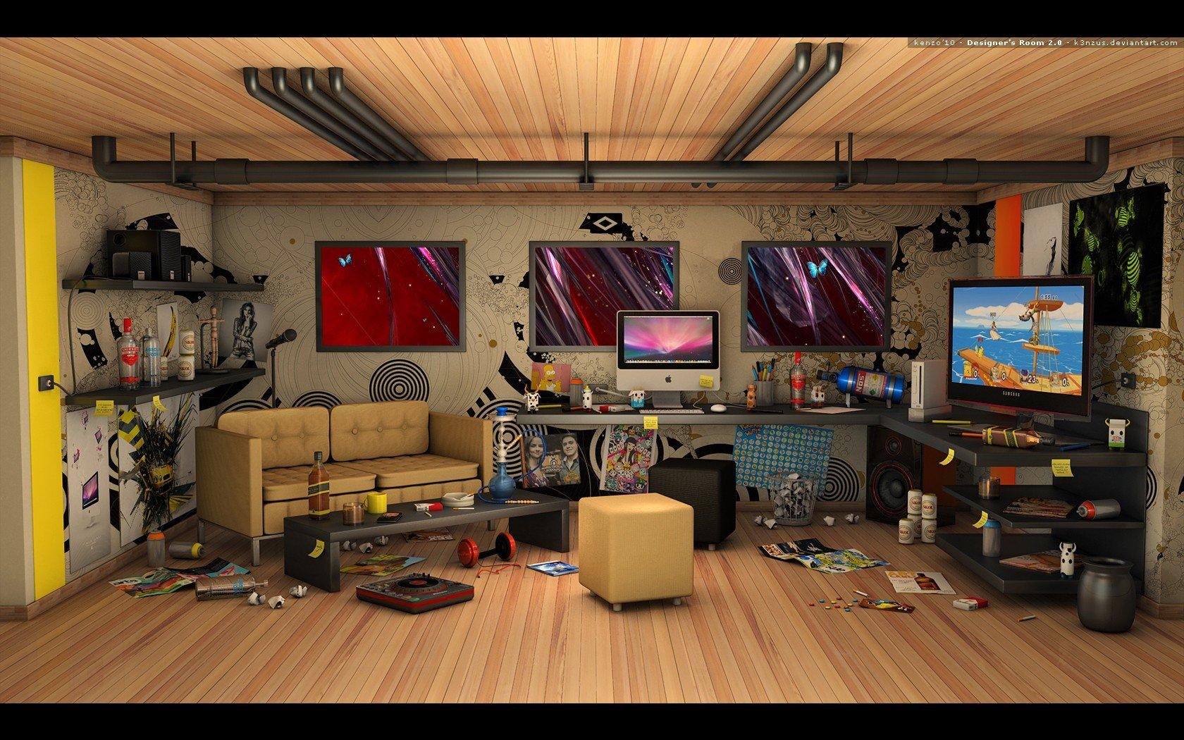 Hintergrundbilder 1680x1050 px gamer zimmer 1680x1050 wallbase 1350663 - Gamer zimmer ...