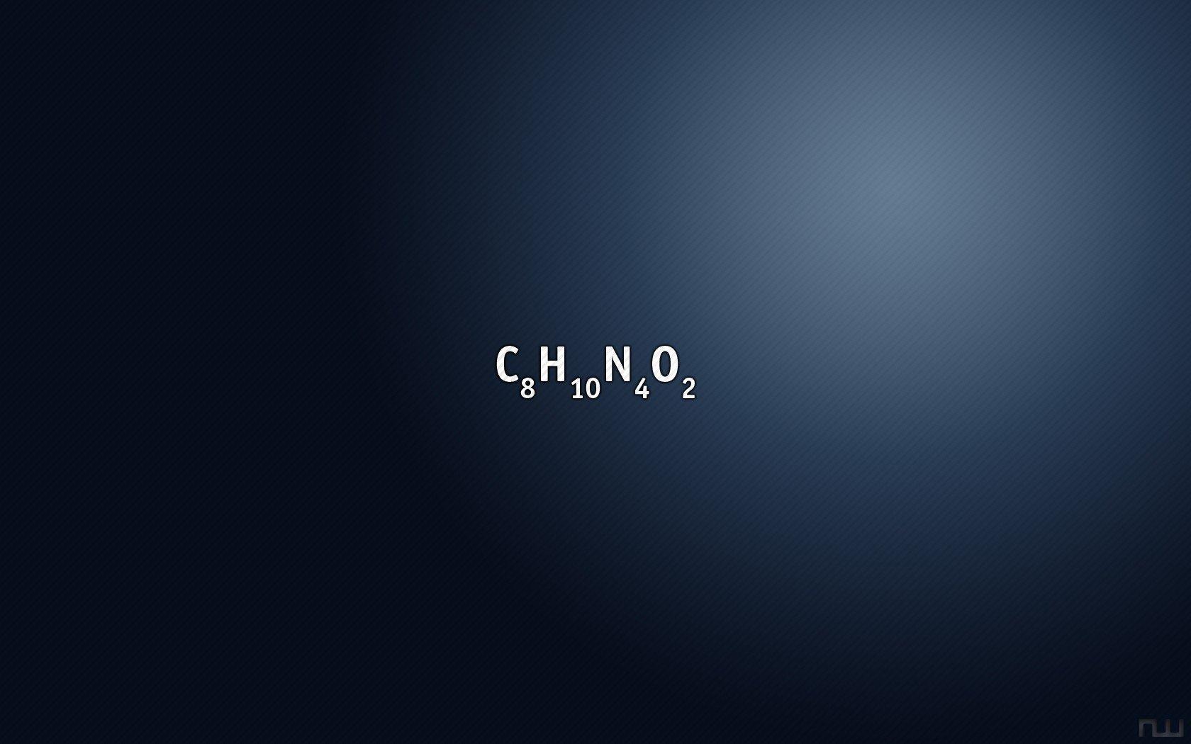 デスクトップ壁紙 1680x1050 Px カフェイン 化学 ミニマリズム