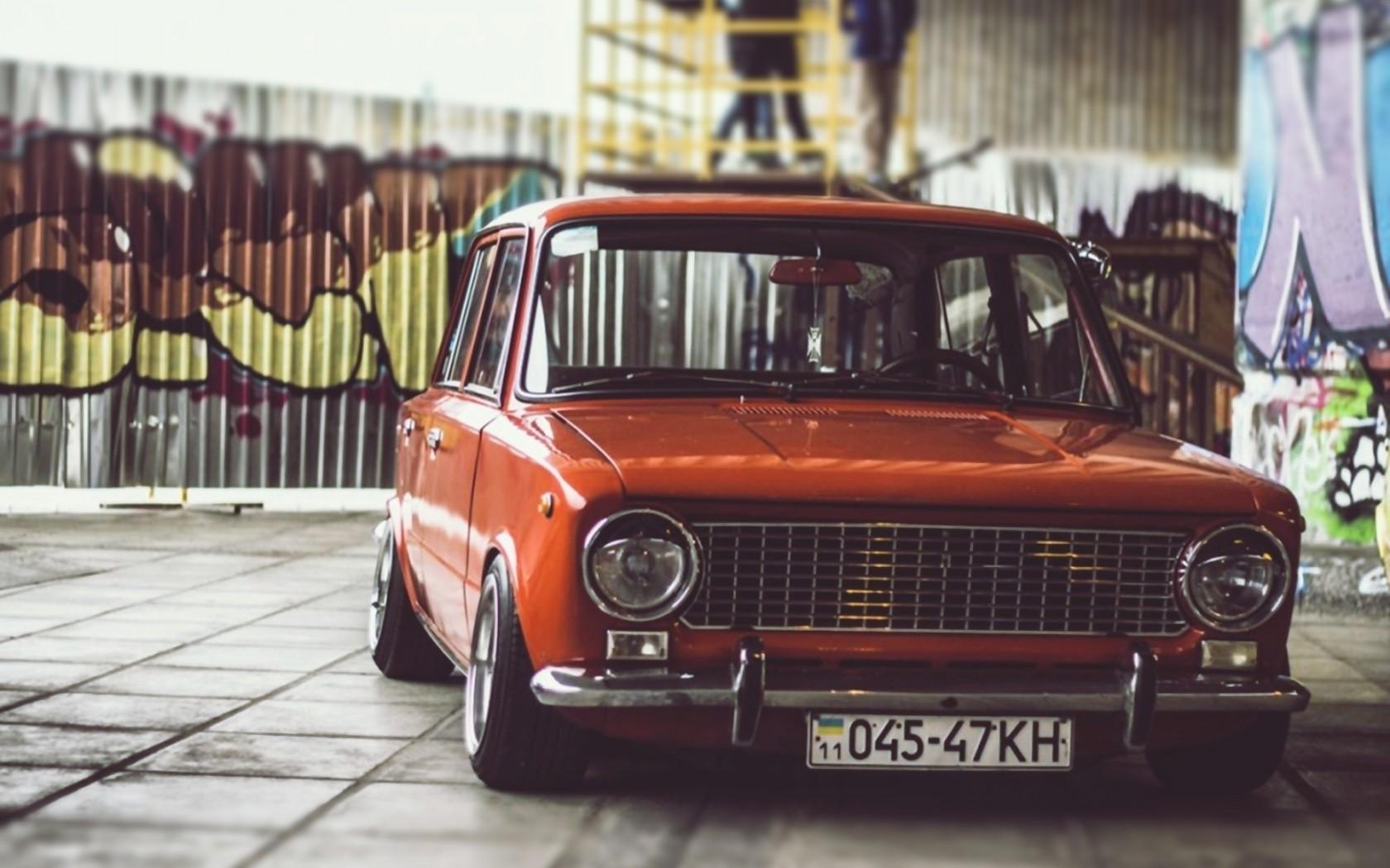 Wallpaper 1680x1050 Px Lada Lada 2101 Low Old Car