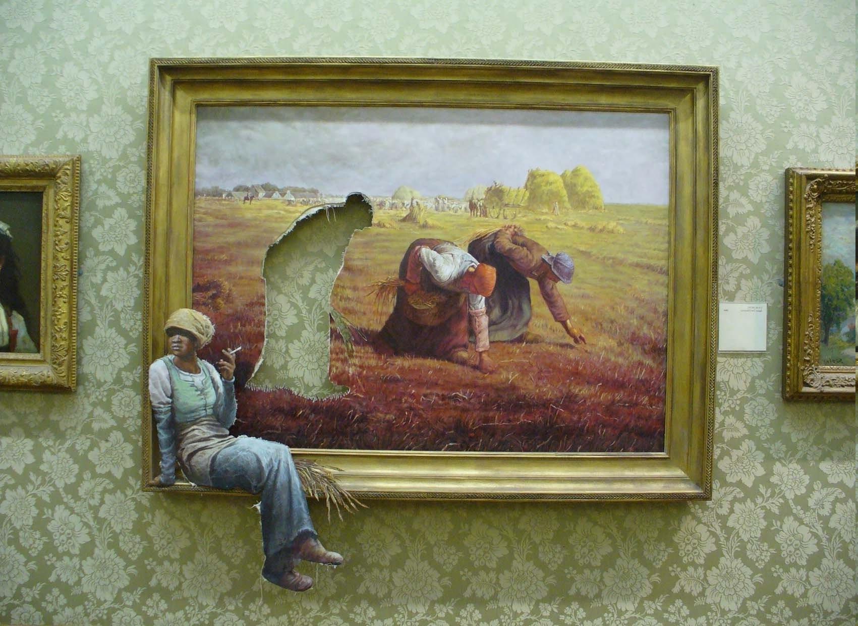Hintergrundbilder : 1701x1241 px, Kunstwerk, Banksy, Galerien, Humor ...