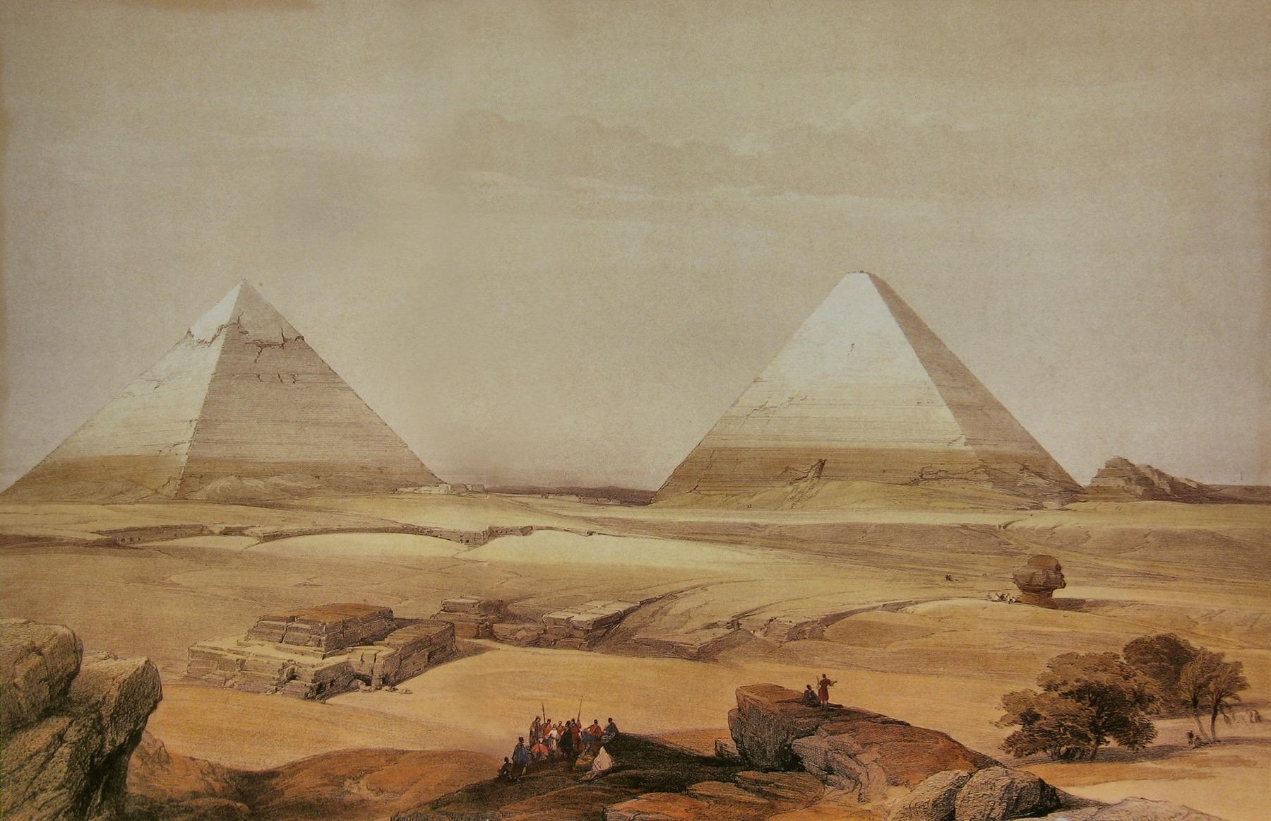 Masaüstü 1800x1162 Px David Roberts Mısır Boyama Piramit