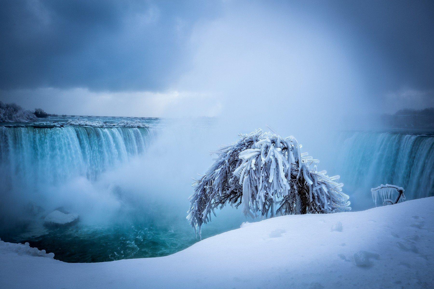 Wallpaper 1800x1200 Px Ice Niagara Falls Waterfall