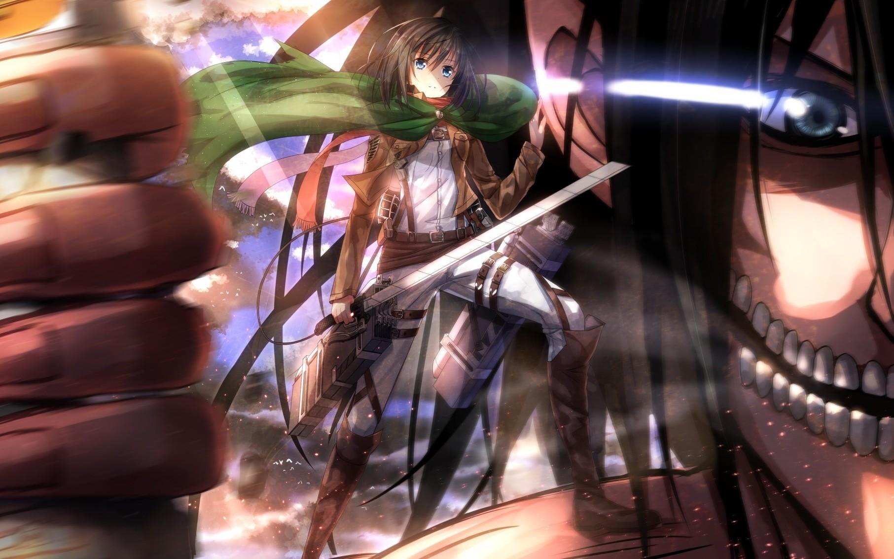 Wallpaper 1813x1133 Px Anime Girls Mikasa Ackerman Shingeki No Kyojin Swordsouls 1813x1133 Wallhaven 1014163 Hd Wallpapers Wallhere
