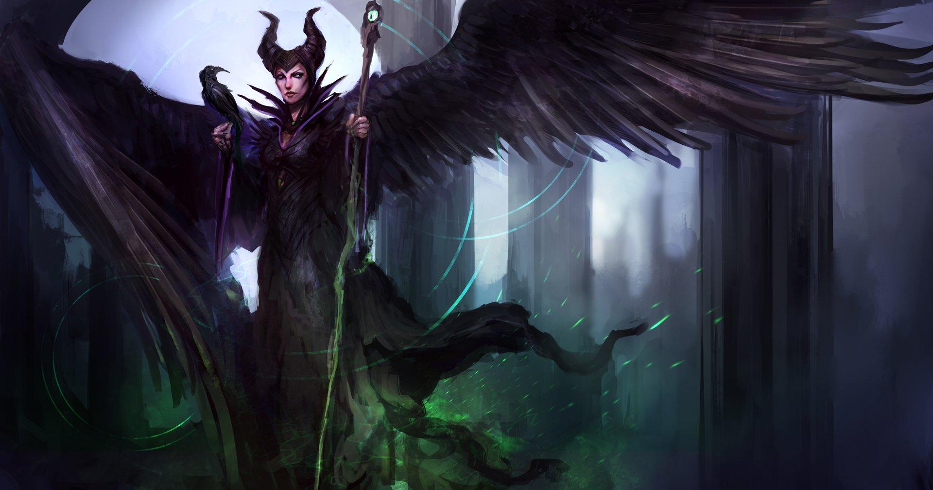 Papel De Parede 1920x1008 Px Desenho Animado Maleficente A