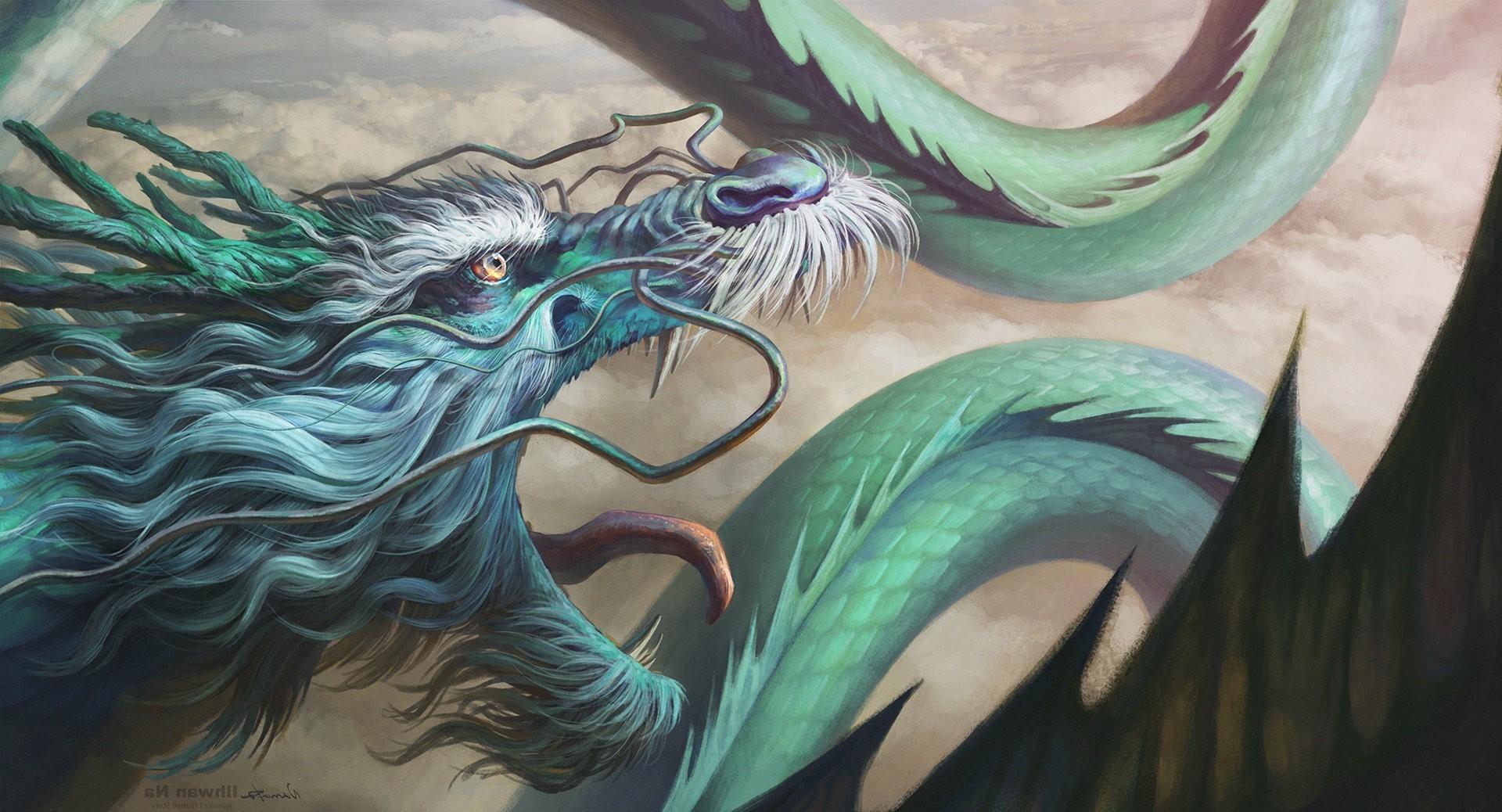 Wallpaper 1920x1038 Px Artwork Chinese Dragon Fantasy