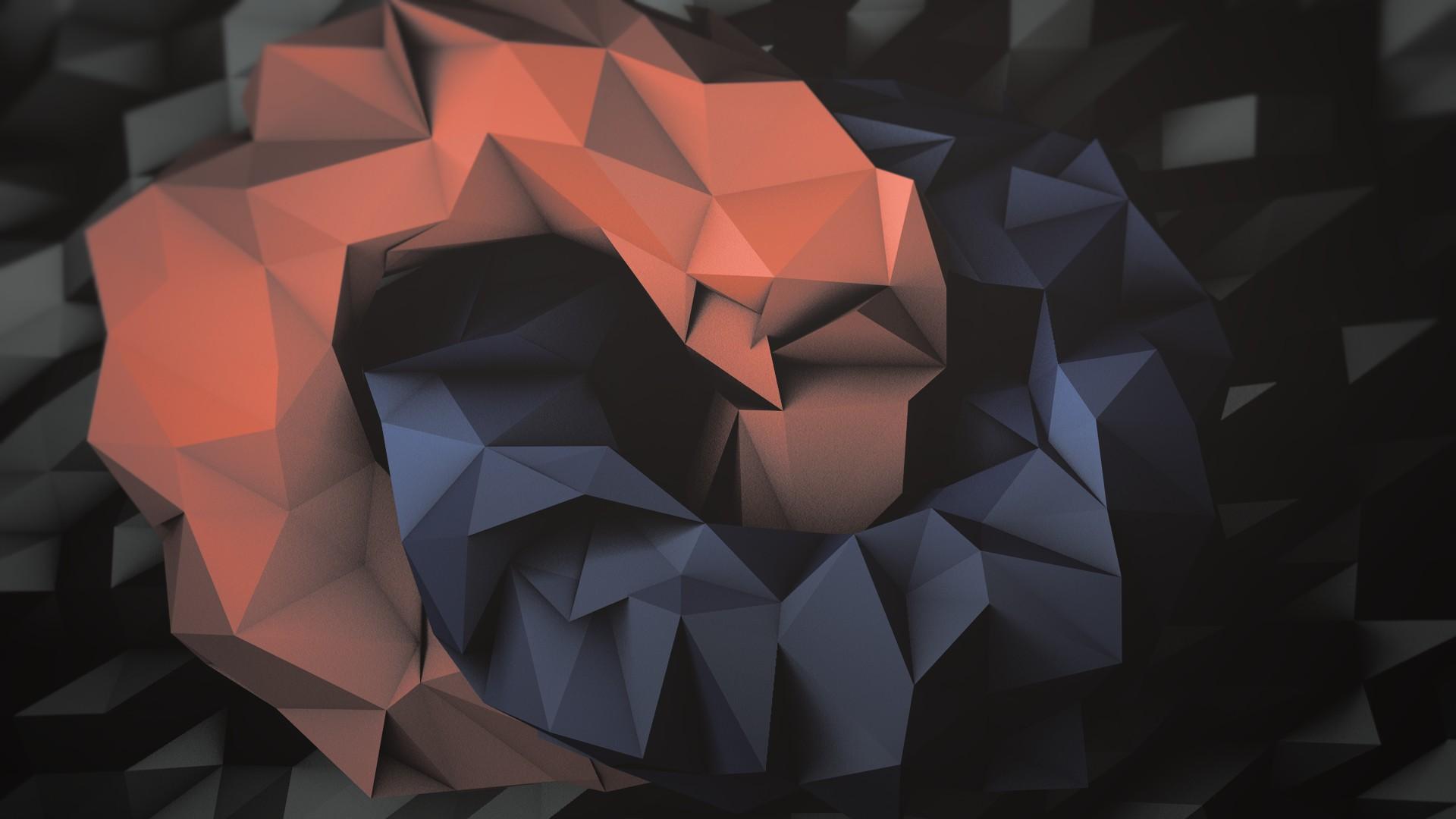 Wallpaper 1920x1080 Px 3d Abstract Art Polygon 1920x1080