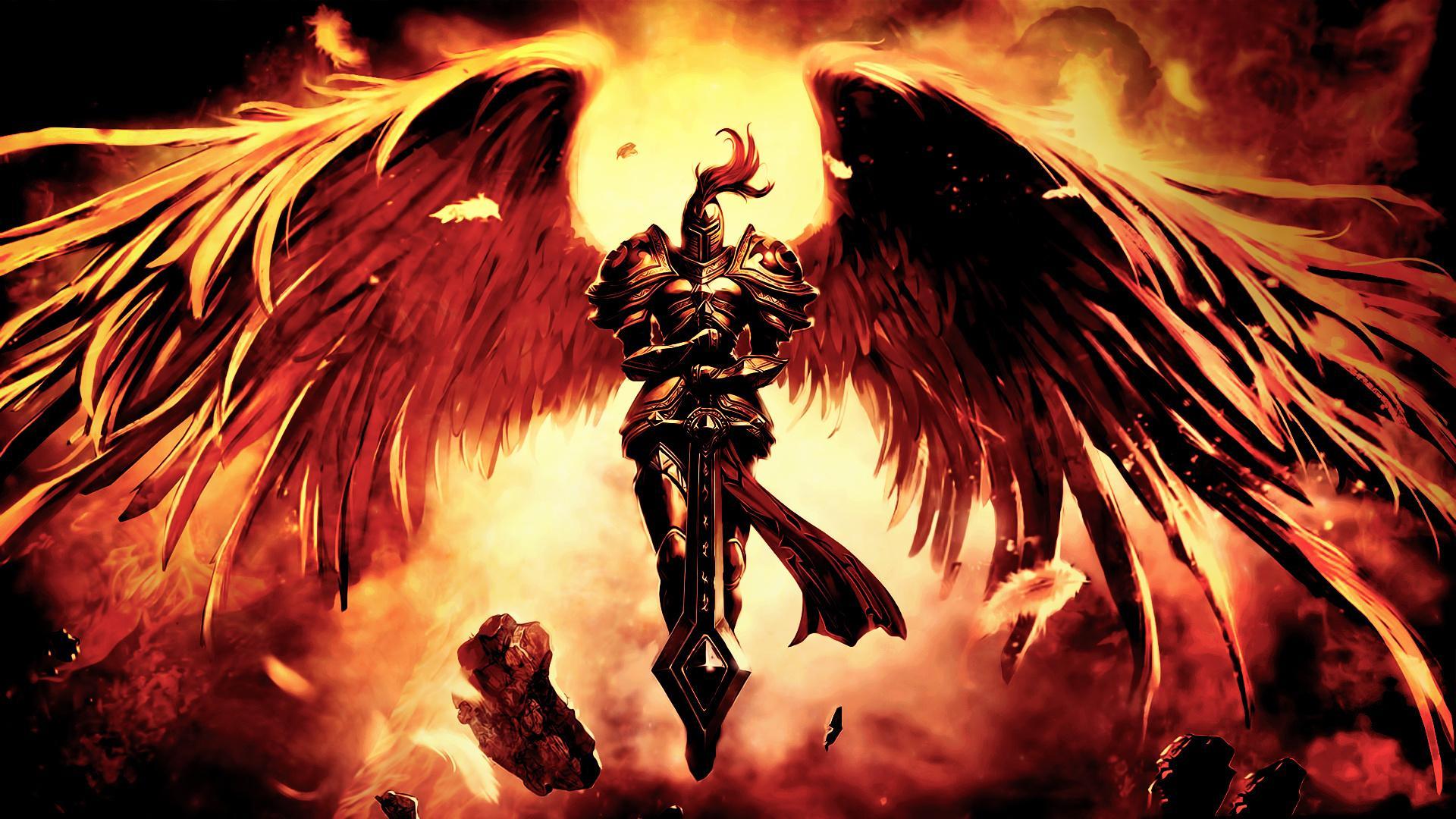 можно фото архангелов с крыльями также