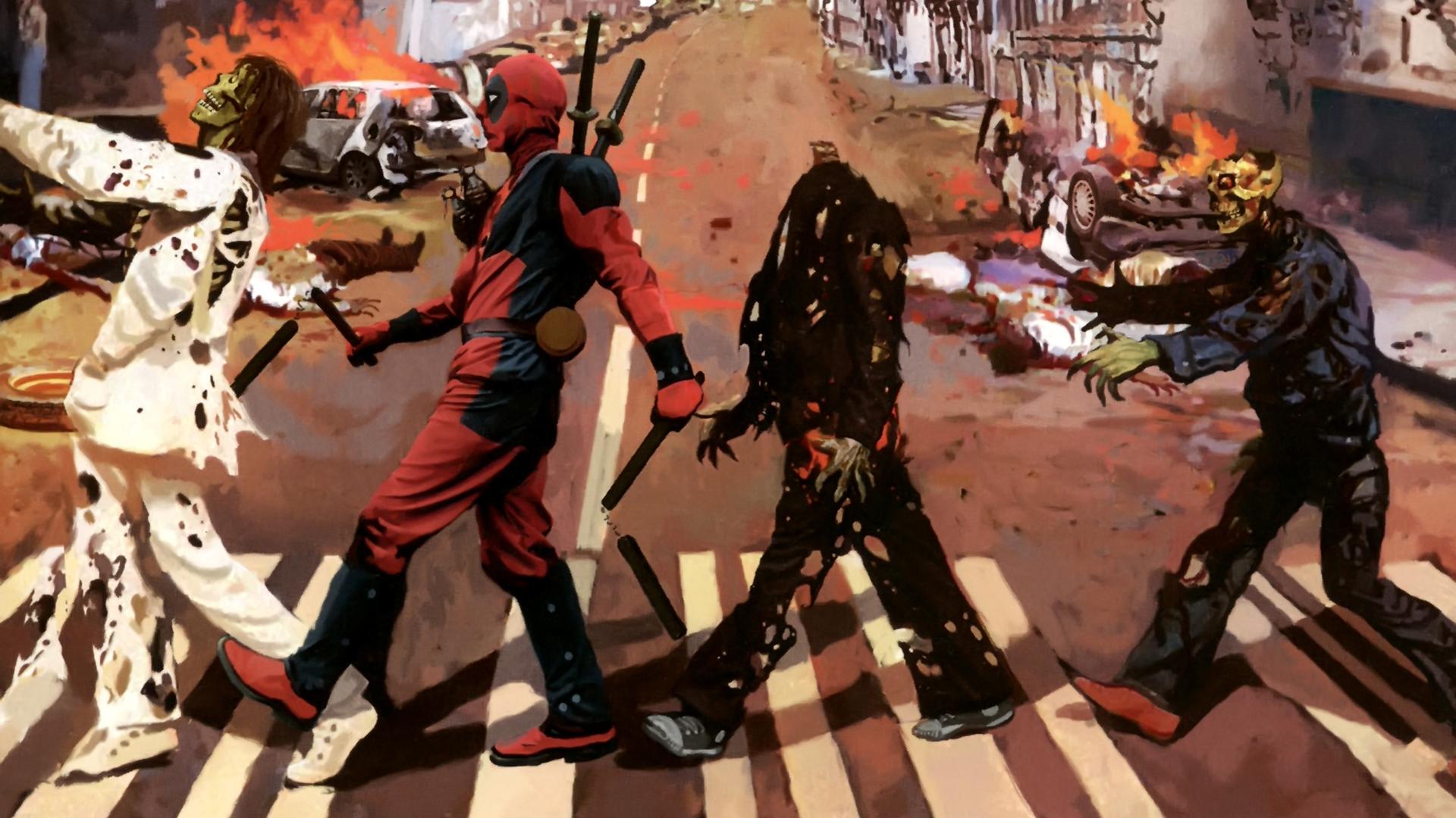 Wallpaper 1920x1080 Px Abbey Beatles Dark Deadpool Marvel