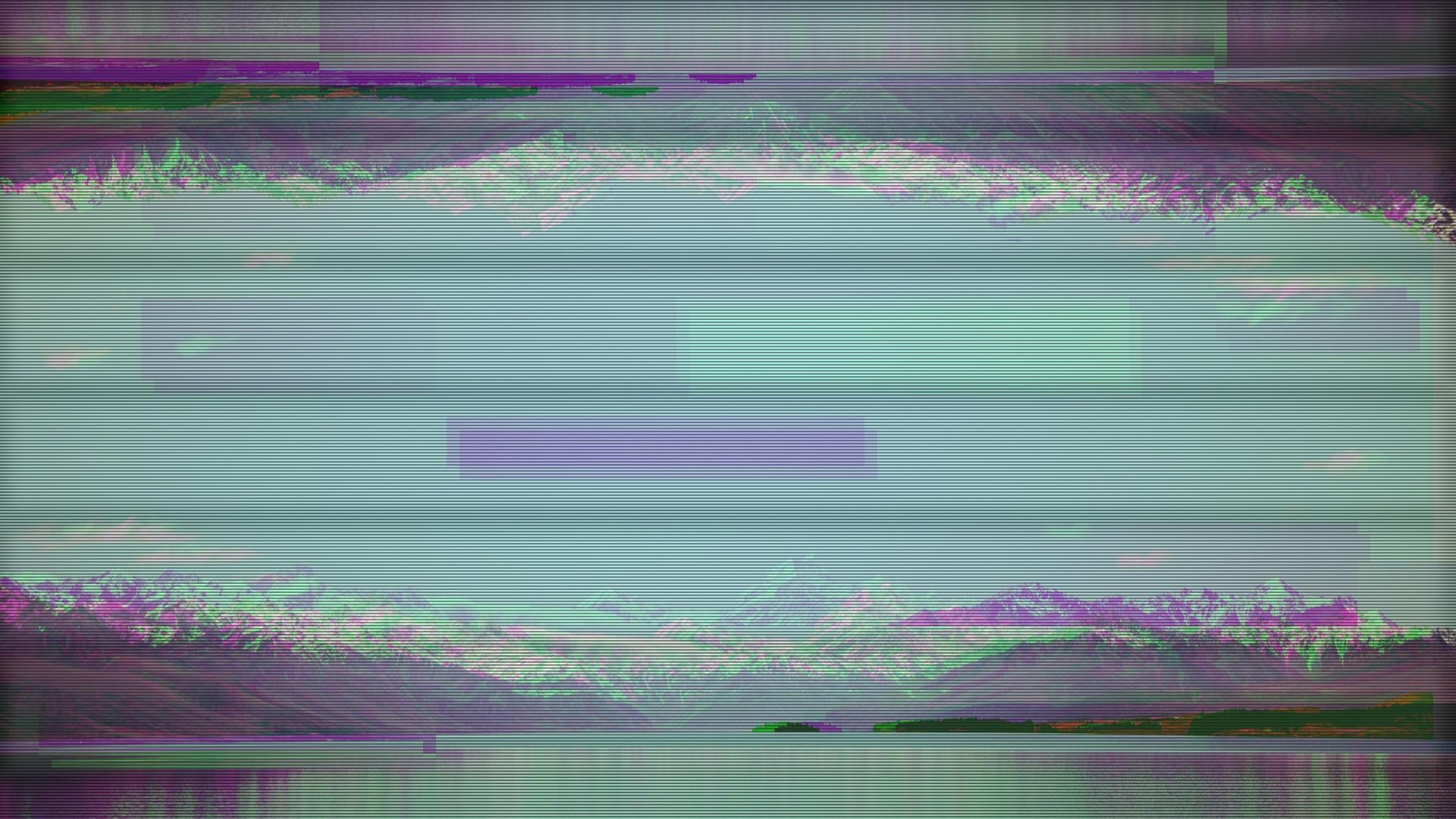 デスクトップ壁紙 : 1920x1080 Px, アルプス, グリッチアート, スクリーン効果, テレビ