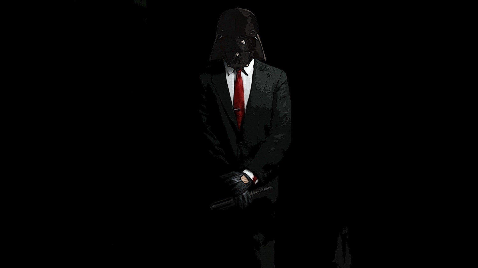 wallpaper 1920x1080 px anonymous black darth vader hitman