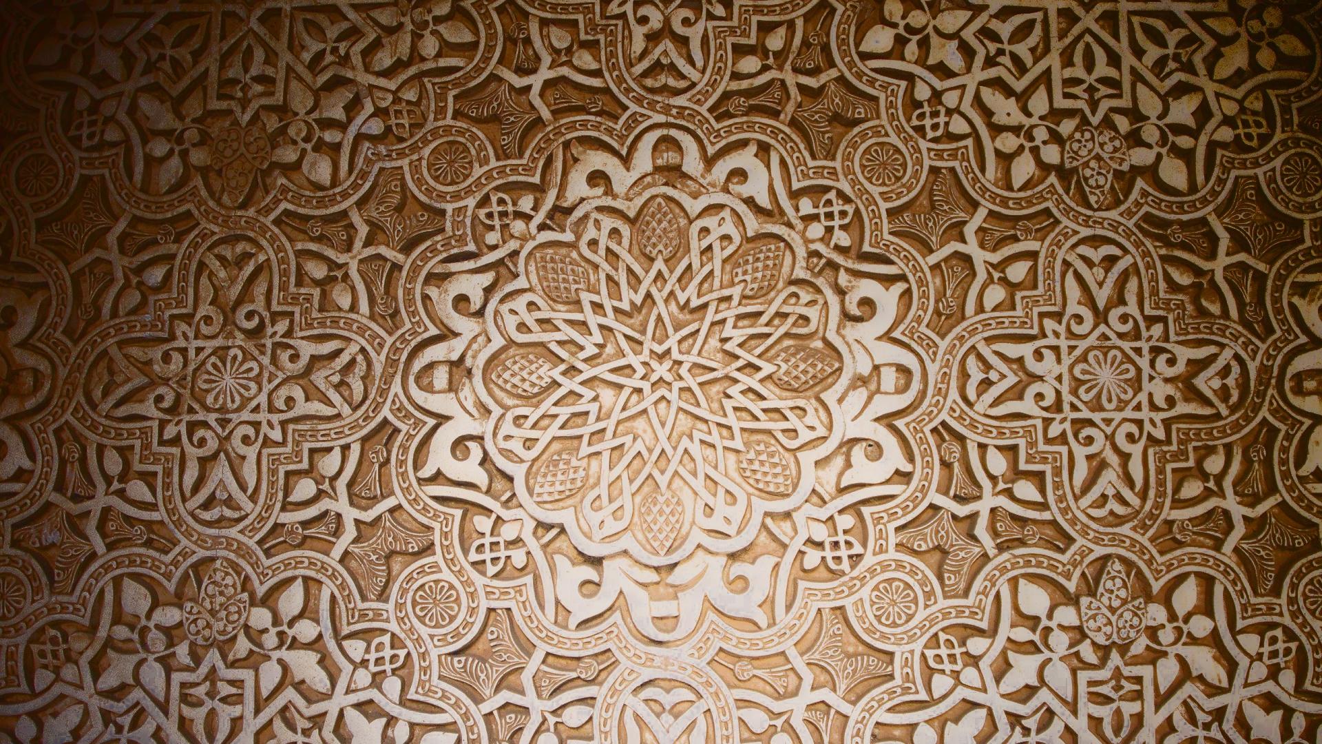 1920x1080 Px Arabian Dark Design Islamic Mosaic Ottoman Pattern Stars