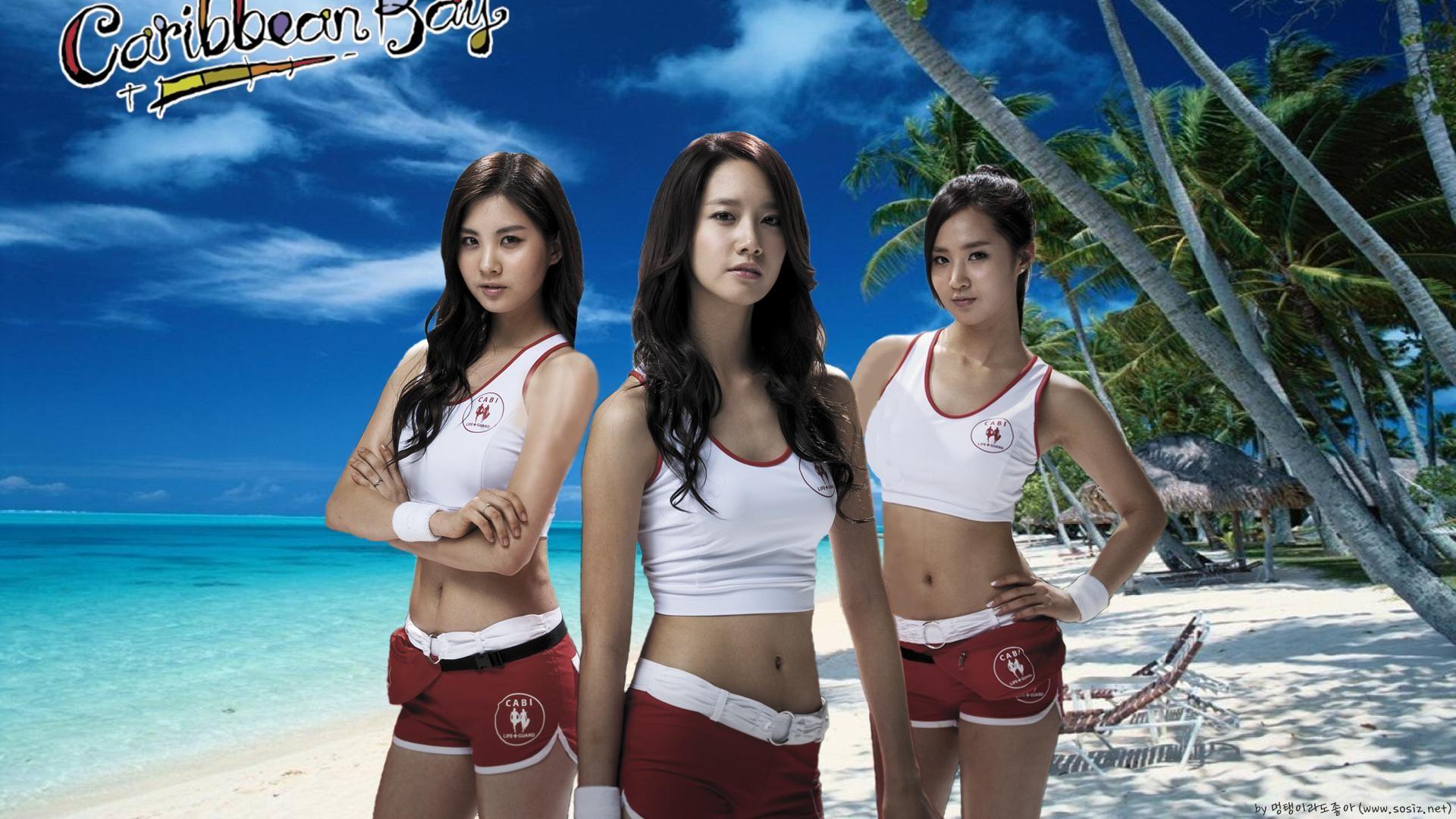1920x1080 Px Asian Beach Girls Generation Korean Kwon Yuri Musicians Sand Seohyun Singer SNSD Women Yoona