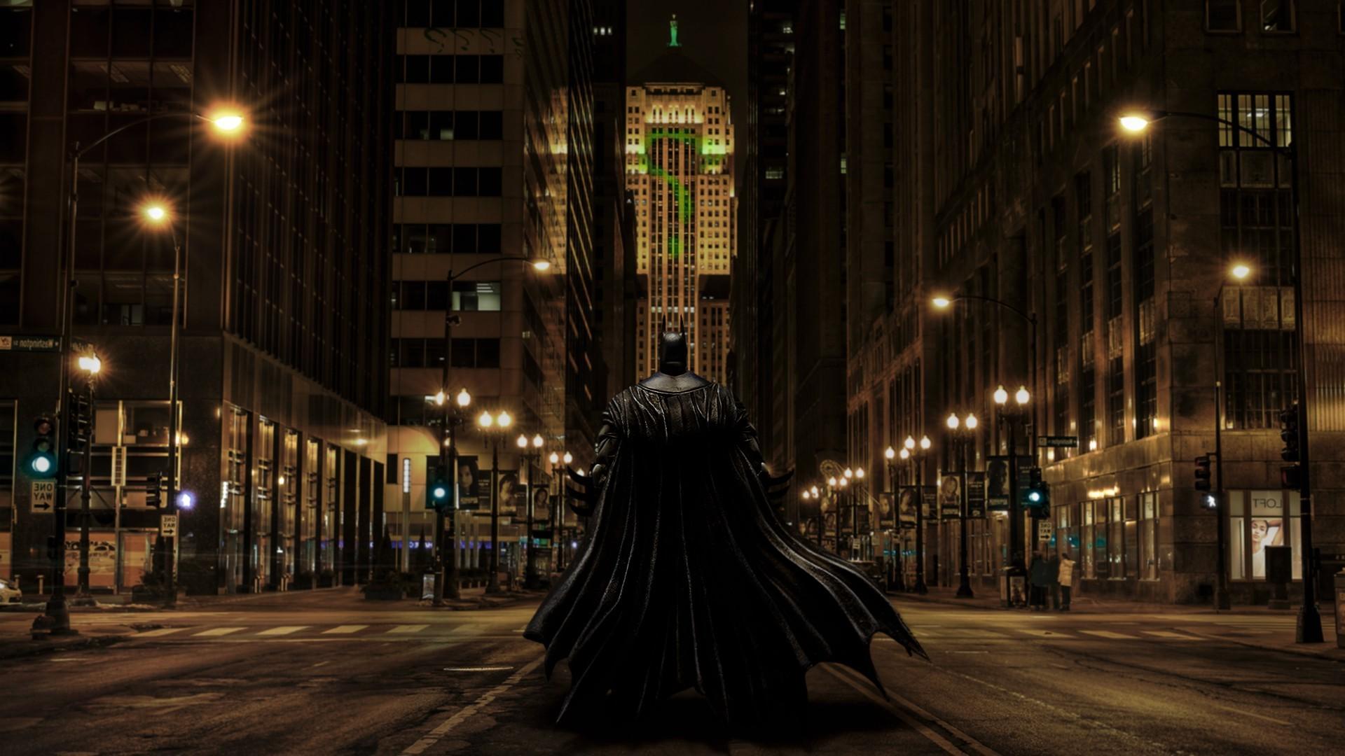 Wallpaper 1920x1080 Px Batman Chicago Fan Art Gotham City