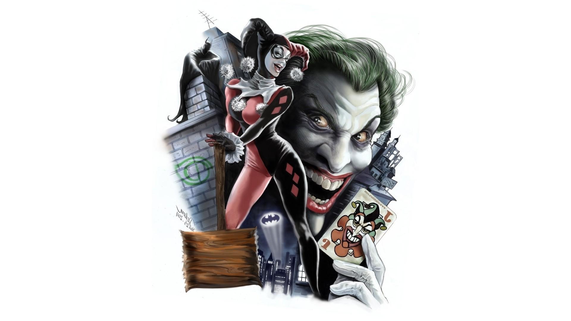 Wallpaper 1920x1080 Px Batman Dc Comics Digital Art Harley