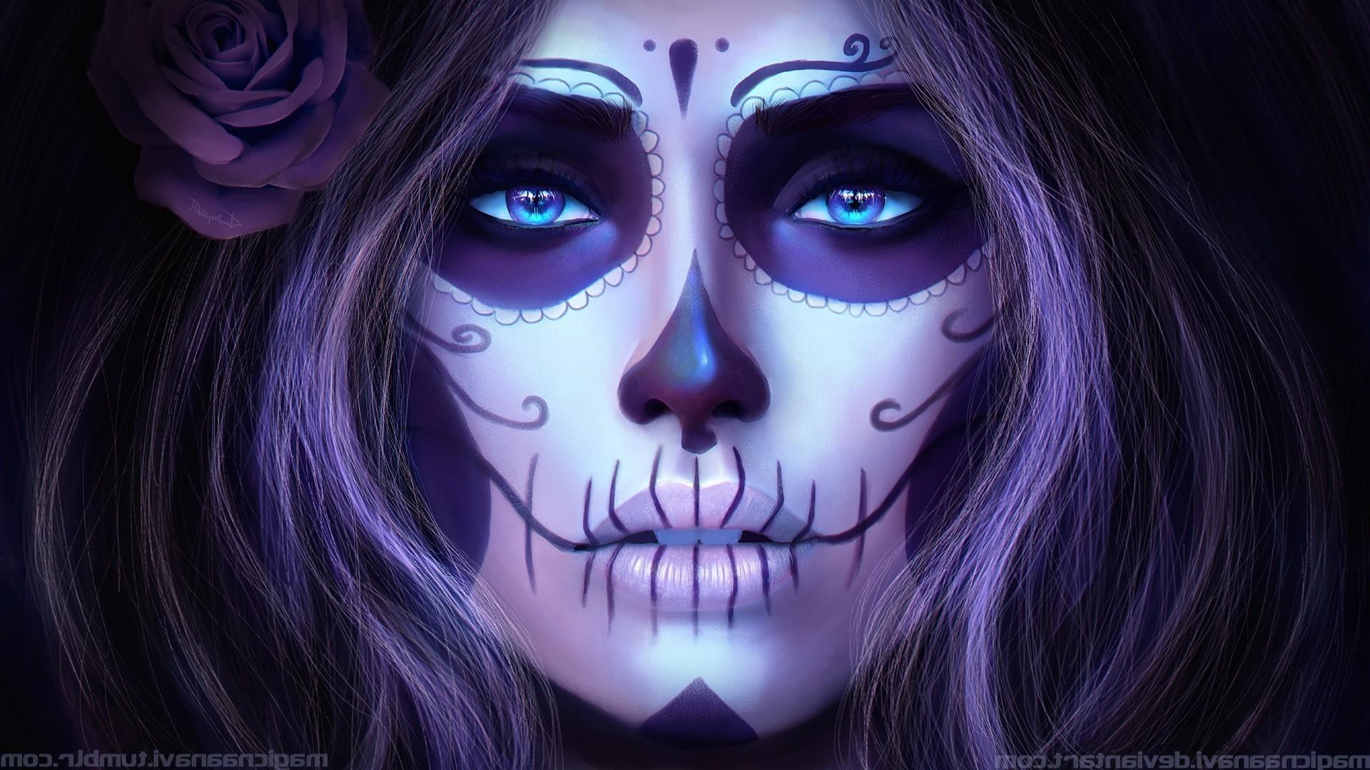 1920x1080 px CGI Dia de los Muertos Magicna Anavi render