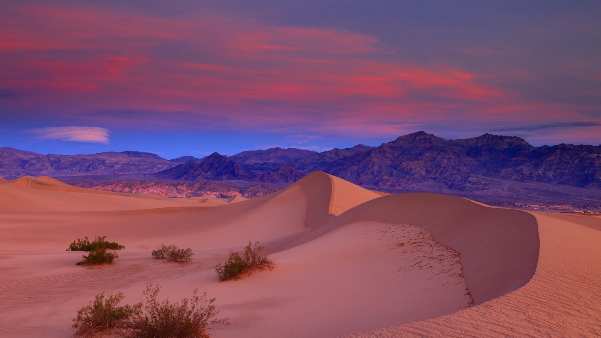 1920x1080 Px California Clouds Death Valley Desert Dune Landscape Mountain Nature Plants Sand Sunset USA