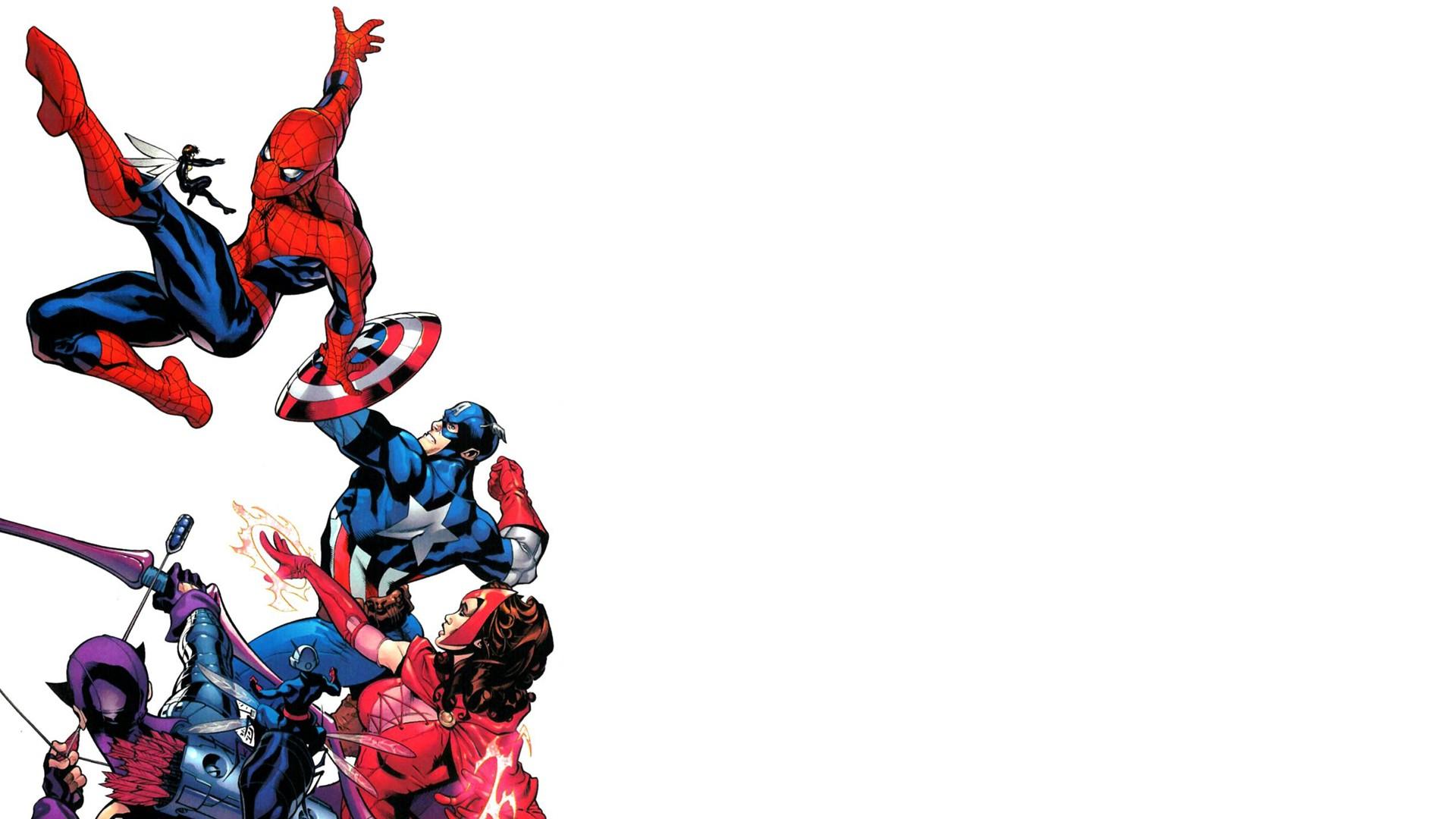 wallpaper : 1920x1080 px, captain america, comics, hawkeye, spider