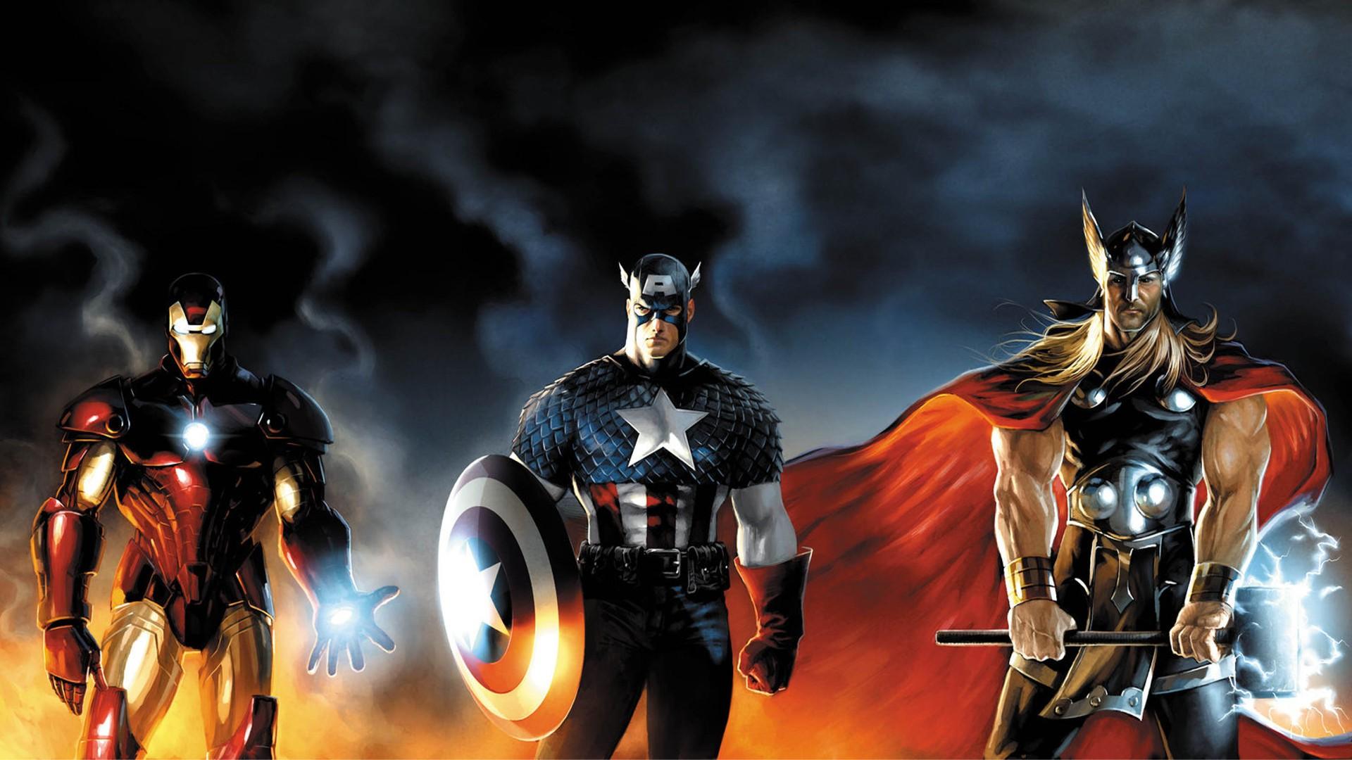 Wallpaper 1920x1080 Px Captain America Comics Iron Man Thor