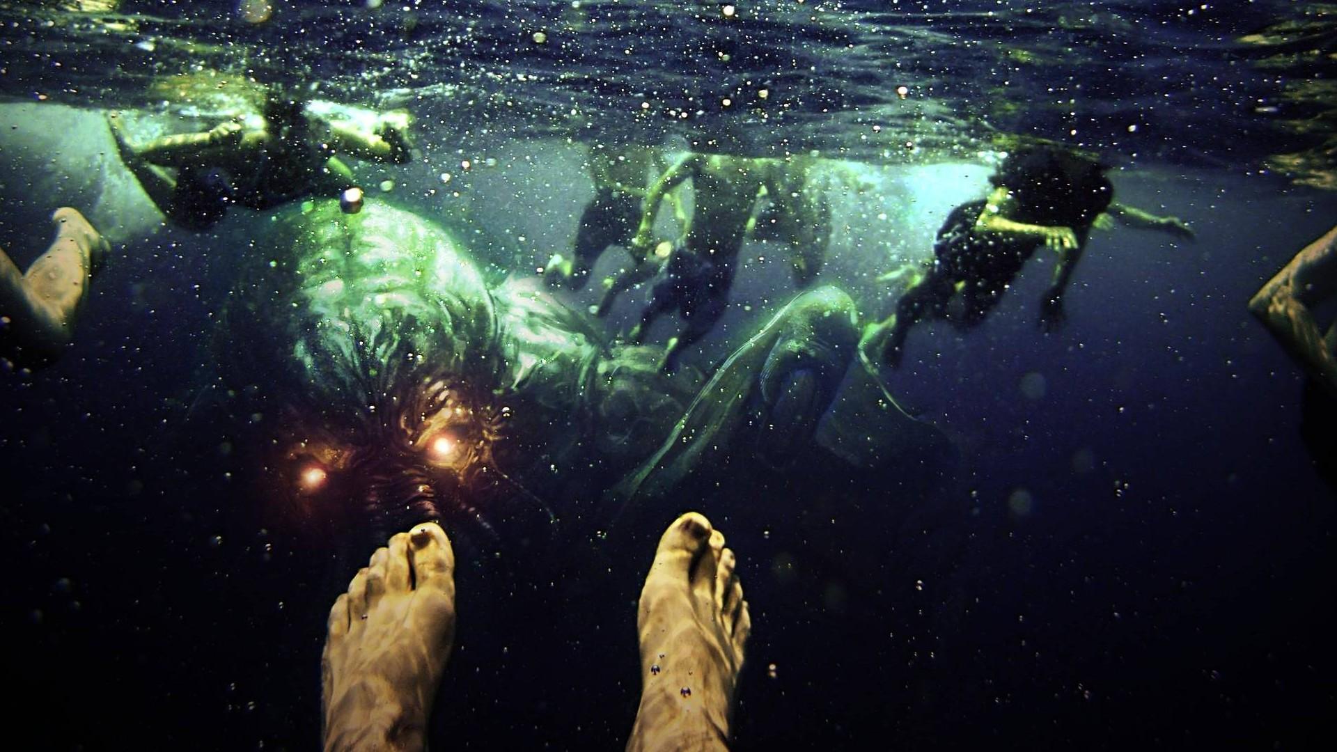 Wallpaper 1920x1080 Px Cthulhu Underwater 1920x1080