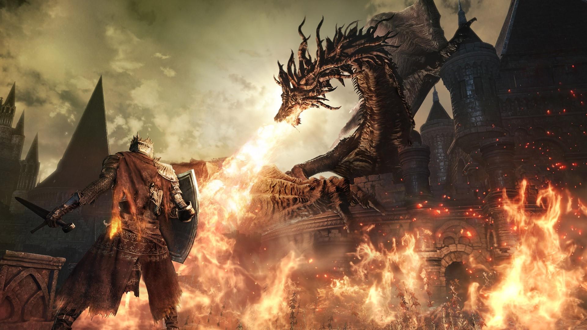 Wallpaper 1920x1080 Px Dark Souls Dark Souls Iii Dragon Fire
