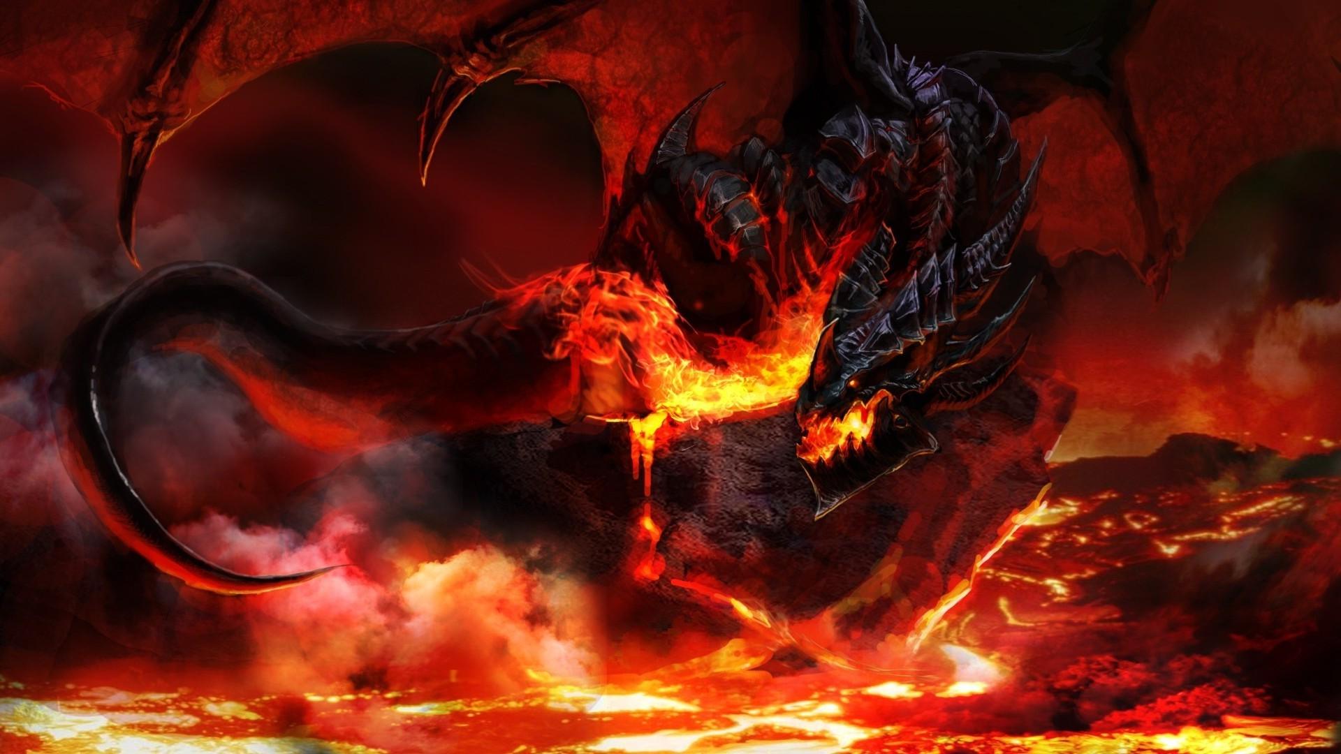 Wallpaper 1920x1080 Px Deathwing Dragon Dragon Wings Fantasy