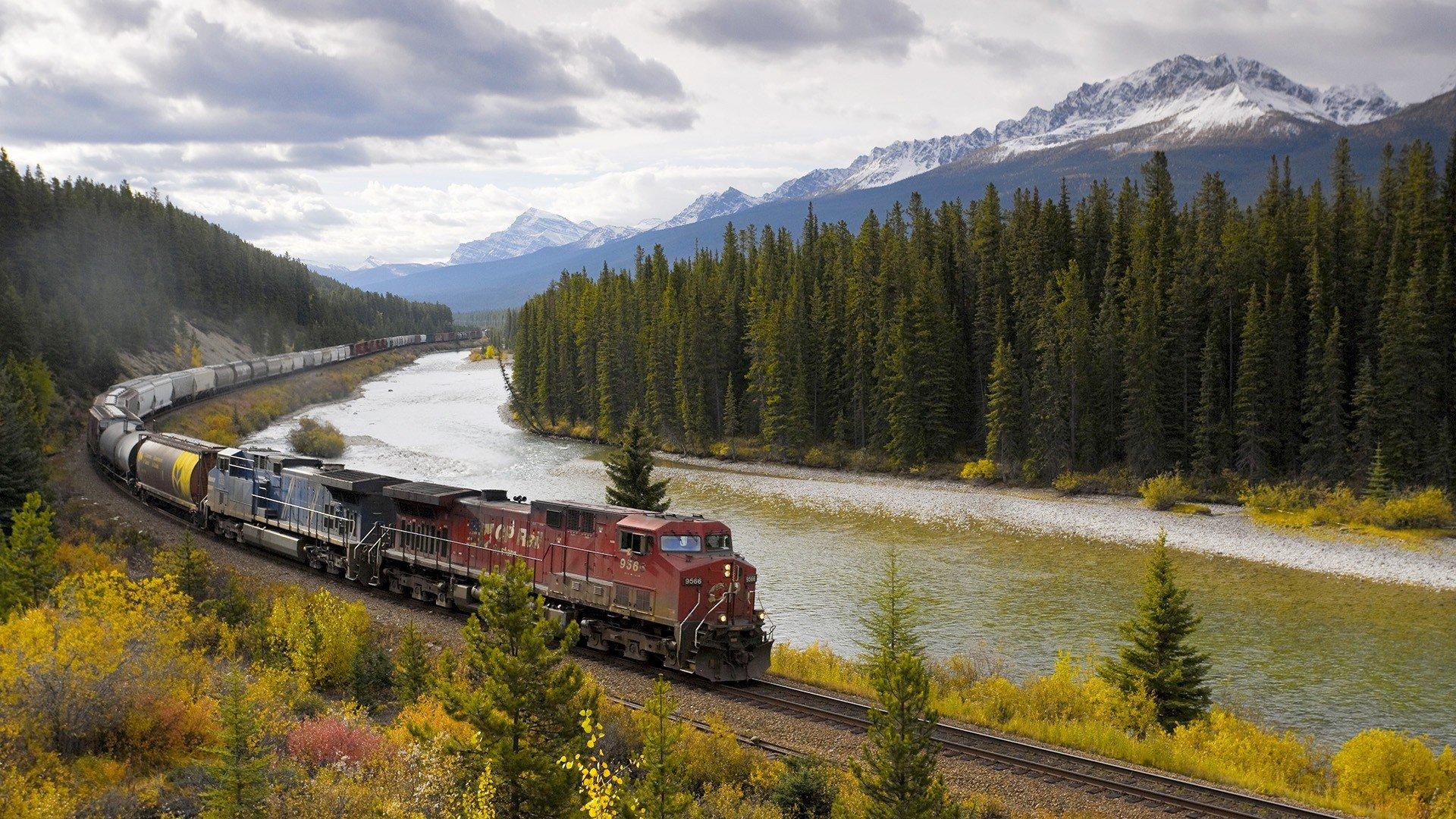 обои поезда вертикальные прекрасных