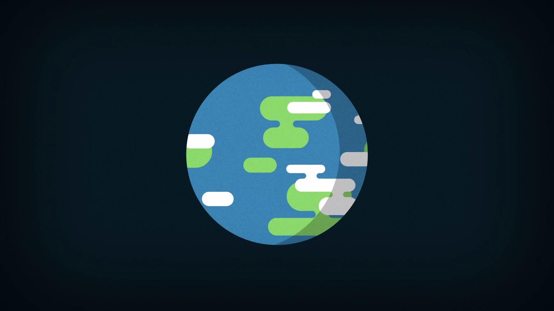 Wallpaper 1920x1080 Px Earth Kurzgesagt Minimalism